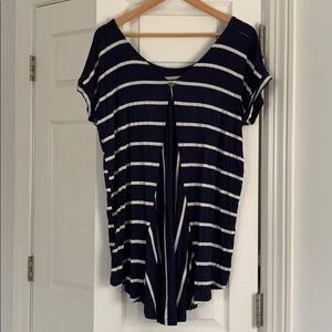 Anthropologie High-Low Striped Top
